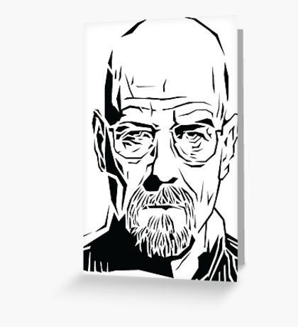 Breaking Bad: Heisenberg stencil Greeting Card
