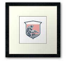 Sandblaster Sandblasting Hose Shield Retro Framed Print