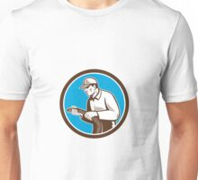 Home Insulation Technician Retro Circle Unisex T-Shirt