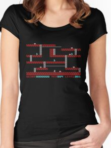 Lode runner Gameplay Women's Fitted Scoop T-Shirt