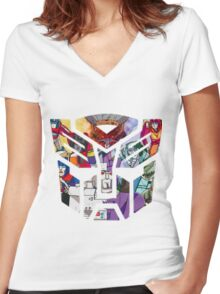 86 autobot Women's Fitted V-Neck T-Shirt