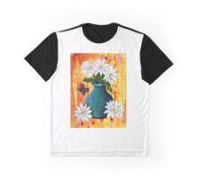 Mixed Media Daisies Graphic T-Shirt