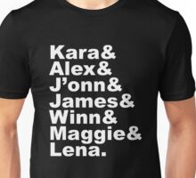 Supergirl Characters Unisex T-Shirt