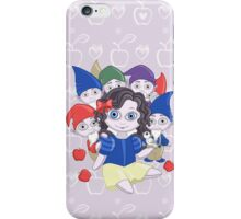 Snow White doll and the seven dwarves iPhone Case/Skin