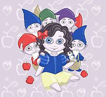 Snow White doll and the seven dwarves by hellbereth
