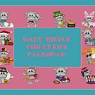 Baby Hippos Children's Calendar  by Vickie Emms