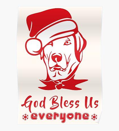 Santa Dog - Dog Christmas Greetings Poster