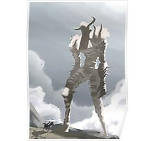 Shadow of the colossus inspired painting Poster