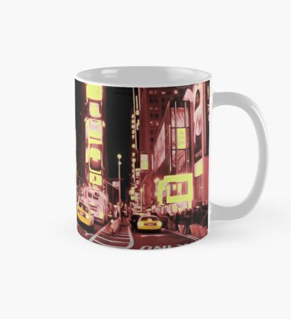 Times square taxis in yellow Mug