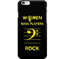 Women Bass Players Rock iPhone Case/Skin