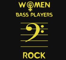 Women Bass Players Rock Kids Clothes