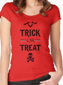 Trick And Treat Women's Fitted Scoop T-Shirt