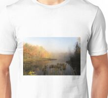 Early morning mist in fall - Mont Tremblant, QC Unisex T-Shirt