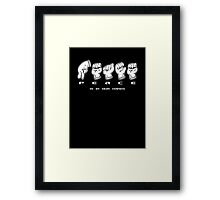 PEACE in Hand Signs Framed Print