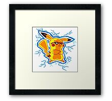 Cool Yellow Mouse (parody) Framed Print