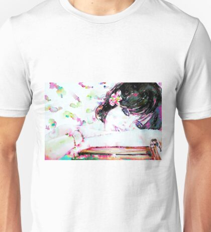 GIRL with FLOWER in her HAIR Unisex T-Shirt