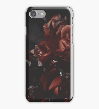 Moody Red Floral Background iPhone Case/Skin
