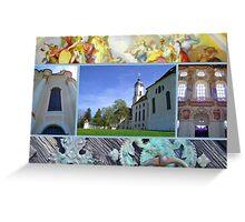 Wieskirche UNESCO world heritage site Greeting Card