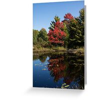 Red and Green - the Arrival of Autumn Greeting Card