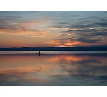 Surfer Rowing To Shore Photographic Print