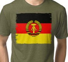 DDR flagge deutsche demokratische republik symbol hammer ähre sichel Tri-blend T-Shirt
