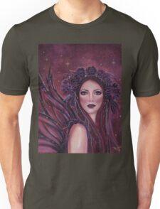 Dark Dahlia fairy fantasy portrait by Renee Lavoie Unisex T-Shirt