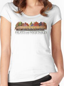 A World of Fruits & Vegetables Women's Fitted Scoop T-Shirt