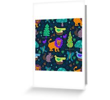 Magical Forrest Creatures Greeting Card