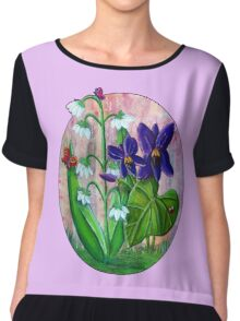 Violet and Lily of the Valley [Patch] Chiffon Top