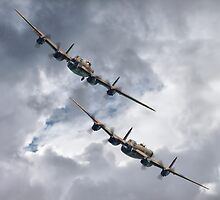 The 2 Lancasters Eastbourne Airshow by Colin  Williams Photography