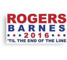 Steve Rogers for President Canvas Print