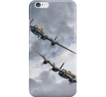 The 2 Lancasters Eastbourne Airshow iPhone Case/Skin