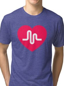 Musically musical.ly musicly heart Tri-blend T-Shirt