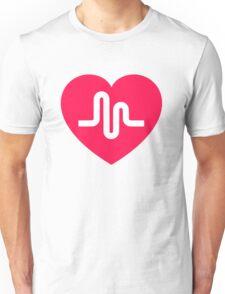 Musically musical.ly musicly heart Unisex T-Shirt