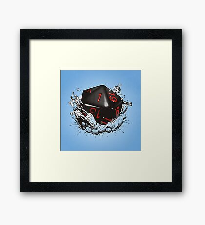 CRITICAL FAILURE Framed Print