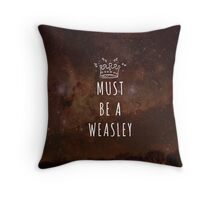 Must Be A Weasley Throw Pillow