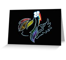 Galactic Rainbow Dash Greeting Card