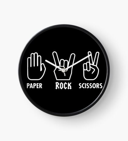Paper Rock Scissors Clock
