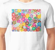Multicolored Pastel Flowers Unisex T-Shirt