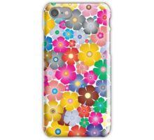Multicolored Pastel Flowers iPhone Case/Skin