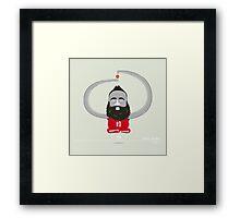James Harden Hover Beard Framed Print