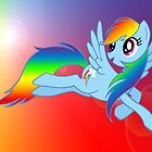 Rainbow Dash Brony T-shirt by dextersboutique