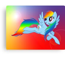 Rainbow Dash Brony T-shirt Canvas Print