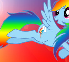 Rainbow Dash Brony T-shirt Sticker