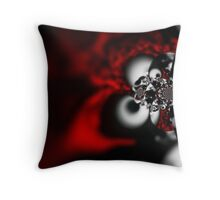 red hand Throw Pillow