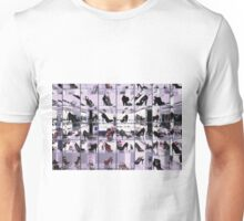 Bright and fashionable window of modern european shoe store Unisex T-Shirt