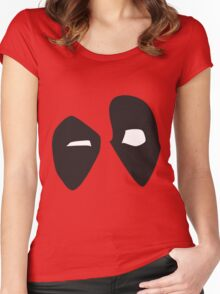 Deadpool Is Staring At You Women's Fitted Scoop T-Shirt