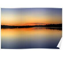 Lakeside Dawn Poster