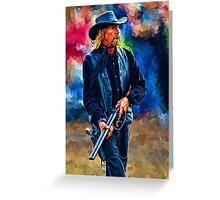 Shotgun Cowboy Greeting Card