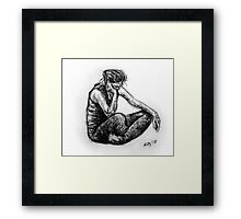 Kazart Girl in Black Framed Print